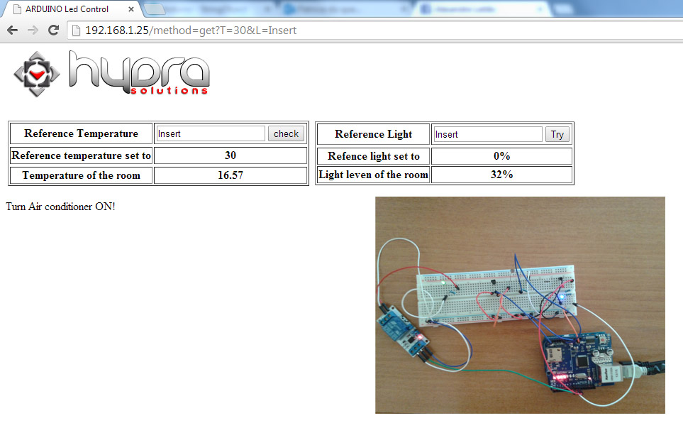 arduino temperature and light control refresh