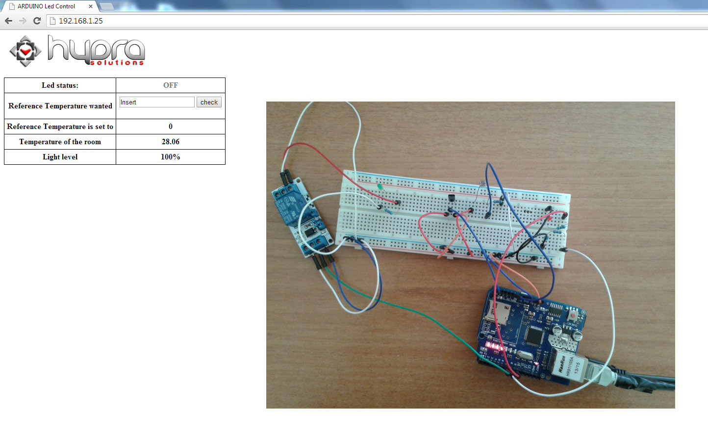 arduino air conditioner led