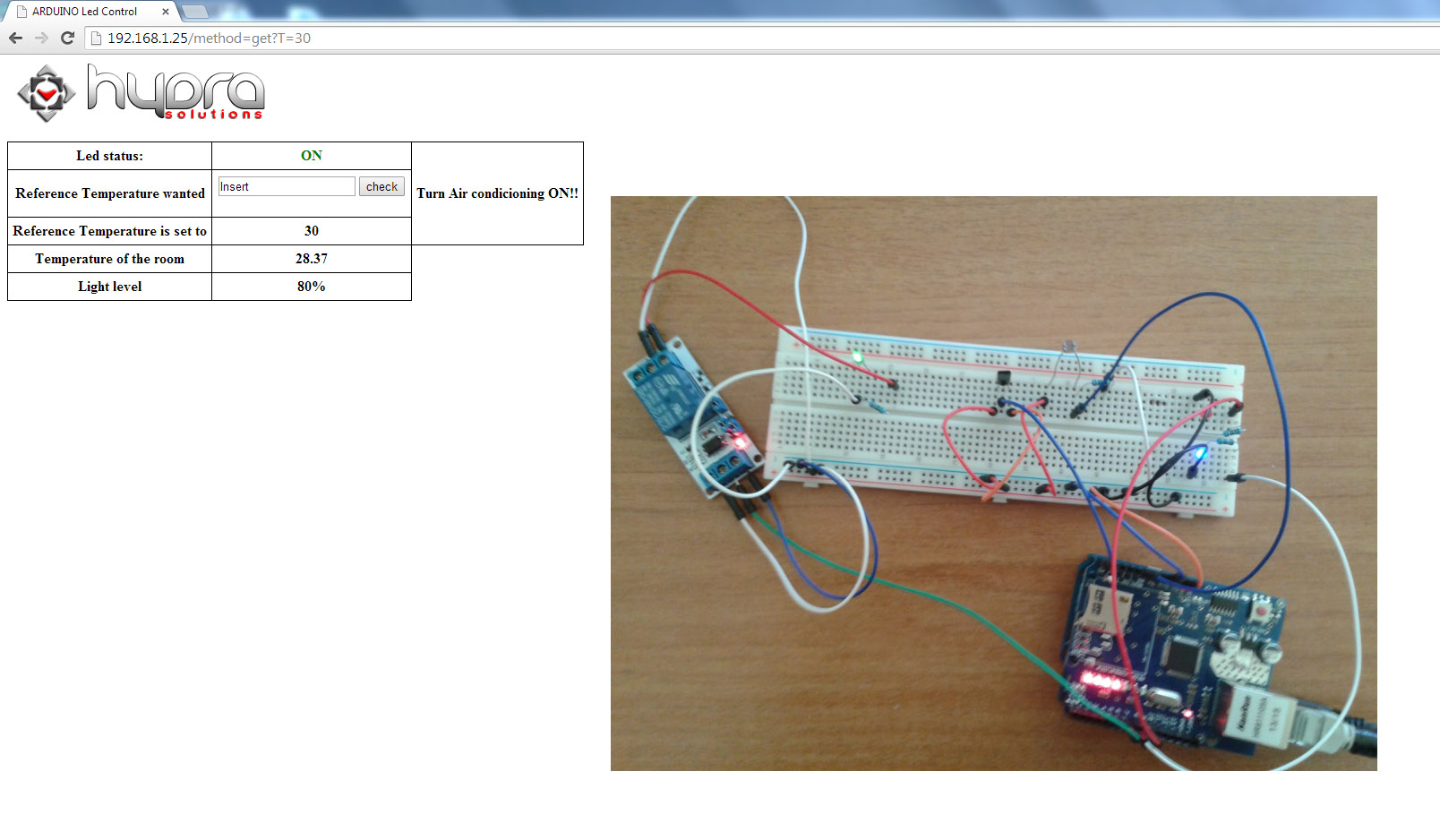 arduino air conditioner higher temperature