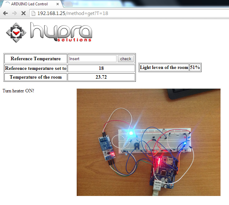 arduino temperature and light control refresh with buzzer