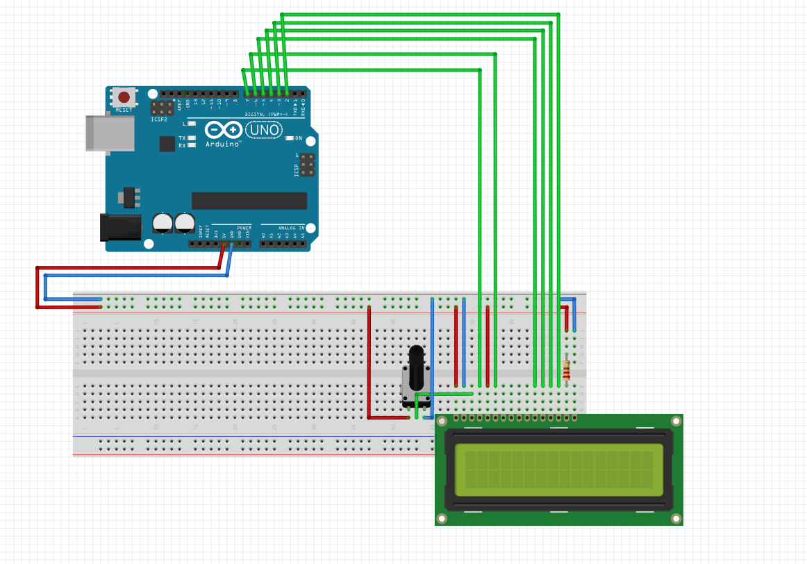 arduino display connection