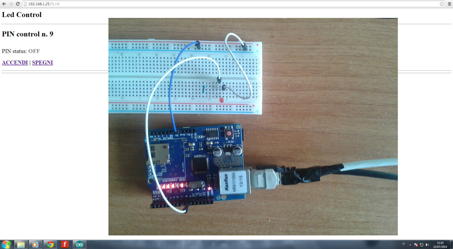 arduino led control off