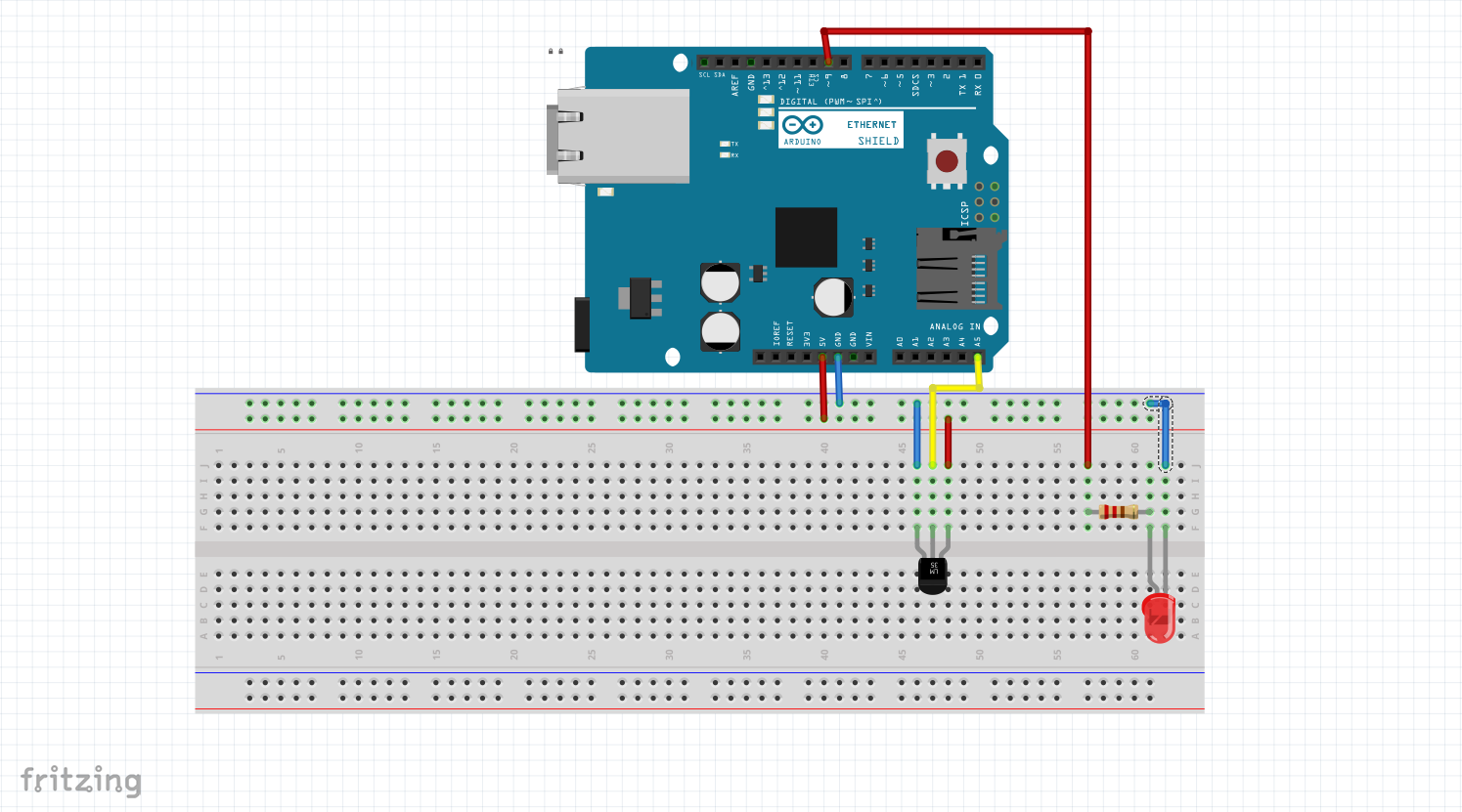 arduino led temperature sketch